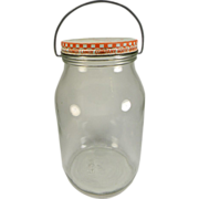Vintage Dowdy's Soft Old Fashion Pure Sugar Stick Candy Jar with Wire Bail