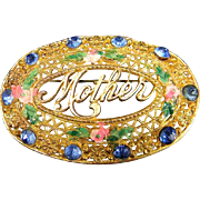 "Vintage Oval ""Mother"" Brooch"