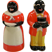 Vintage Aunt Jemima & Uncle Moses Plastic Salt & Pepper Shakers
