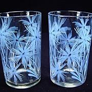 Two 1947 Cornflower #2 Light Blue Swanky Swigs