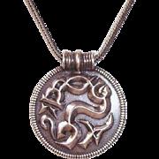 Vintage David Anderson Sterling Silver Viking Pendant Reproduction Origin 500 A.D.