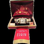SALE Vintage 1954 Mens Elgin Edgewater model original case MUST SEE MINTY!!!N.O.S.