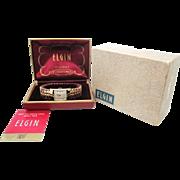 SALE Vintage 1954 Mens Elgin Milburn model original case MUST SEE MINTY!!!