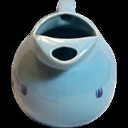 vintage 1930s-1950s Cronin China 64oz blue tulip ball jug