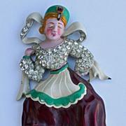 SOLD Vintage Trifari David Mir Russian Dancer Fur Clip Pin