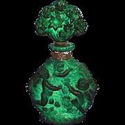 "SALE Circa 1930's, Czech / Czechoslovakian, Malachite, ""Ingrid"" Design, Perfume/Scent Bo"