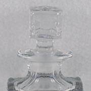 SALE Stunning, Vintage, Fostoria, Crystal, Perfume Bottle encased with Engraved Floral & Devil