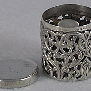 SALE Circa 1900, American, Sterling Silver, Filigree Thimble Holder / Case by Unger Bros.