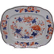Exquisite Hand Painted Staffordshire England Imari platter