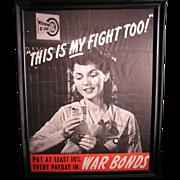 Vintage Original WWII war bond poster