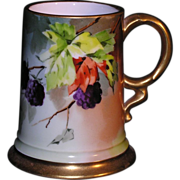 "Beautiful RC Bavaria ""Rosenthal China,"" porcelain tankard with hand painted hanging"