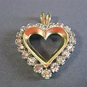 SALE Diamond Pendant Heart