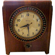 "SOLD Vintage Pre-War Warren Telechron clock/timer by designer Belle Kogan in 1935,  ""Cont"