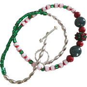 "REDUCED Reduced  Different kinds of glass beads, 22"" Original handcrafted"
