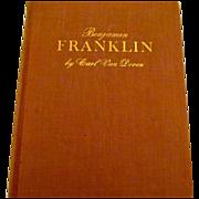 Reduced Benjamin Franklin, Carl Van Doren, First Edition, excellent condition