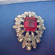 REDUCED Vintage Early Eisenberg Rhinestones Brooch Pin