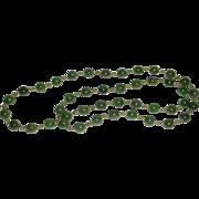 SALE Vintage Nephrite Jade Beads Necklace