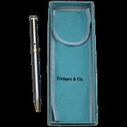 Vintage Tiffany & Co. Two-tone T-Clip Ruthenium Pen