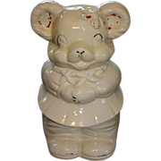 REDUCED Vintage Cookie Jar Turnabout Boy Girl Bear American Bisque