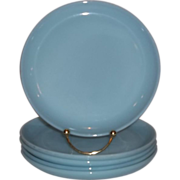 Fire King Turquoise Blue Salad Plates - 1 Available