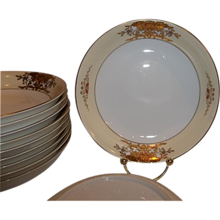 Vintage Noritake China 42200 Soup Bowls