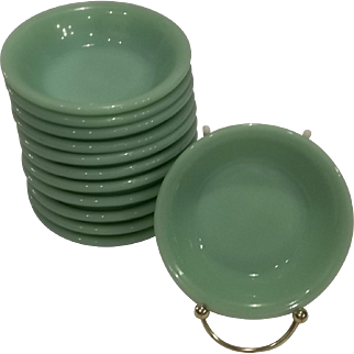 Fire King Jadeite Restaurant Ware Berry Bowls 12 Available