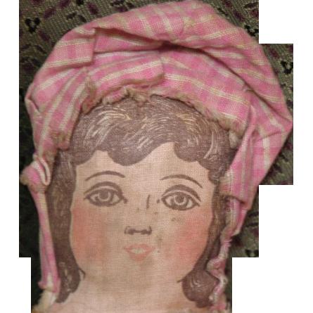 Adorable primitive Lithograph doll