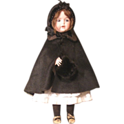 Beautiful vintage French style  hat, Cape and muff