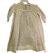 Antique dress with inlaid lace