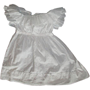 Gorgeous early Antique doll dress large an very billowy