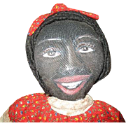 Amazing hand painted Black folk art doll