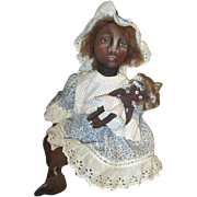 Charming artist Black doll needle sculpted and beautifully painted