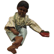 Great vintage Black boy doll