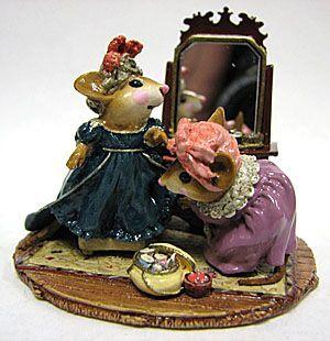 """Wee Forest Folk - """"A Stitch in Time"""" Sculpture Ltd. Ed."""