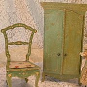 SALE Signed French Fashion Doll Furniture from Au Nain Bleu