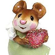 SALE Wee Forest Folk Mice Valentine Pair