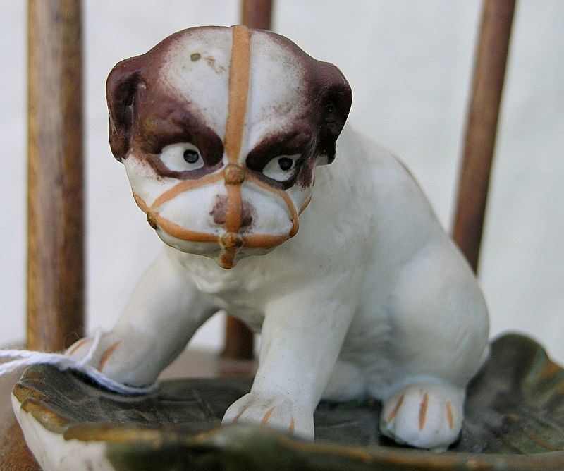G. Heubach Muzzled Bulldog Pup small tray