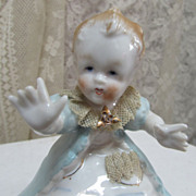 REDUCED Antique Dresden German Figurine Young Child