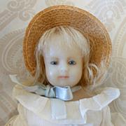 Petite Wax Artist Doll in Kate Greenaway Style