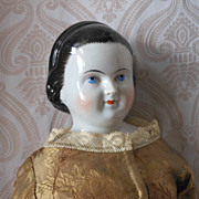 Kestner Alice in Wonderland Hairstyle with Snood Glazed Porcelain China Head Doll