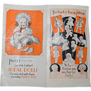 Original Ideal New Tickletoes Doll Package Paper Insert Advertisement