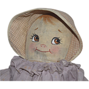 Vintage Cloth Doll with Painted Face
