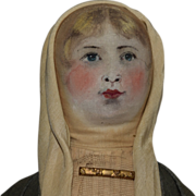 Antique Cloth Doll with Delicately Painted Face