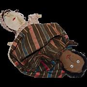French Folk Art Cloth Topsy Turvy Doll