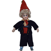 SOLD Les Lilliputians French All Bisque Boy in Original Costume