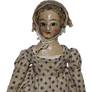 Early Antique French Restoration Period Parisienne Doll