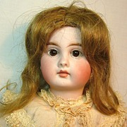 Antique German Bisque Head Belton Type Doll