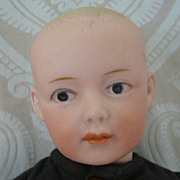Gebruder Heubach German Bisque Head Character Boy Doll