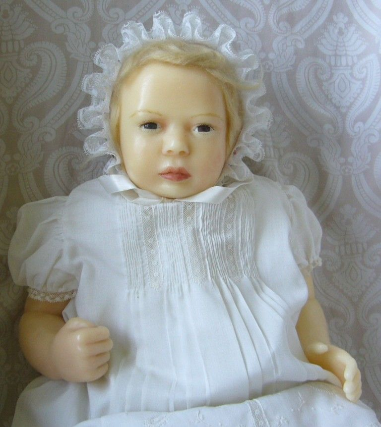 One of a Kind Artist Created Wax Character Baby Doll