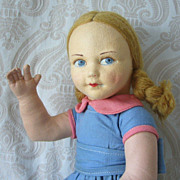 SALE Norah Wellings Cloth and Felt Child Doll